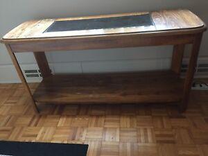 Glass insert Sofa Table