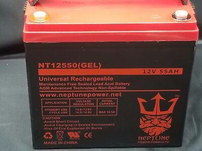 Neptune 12V 55Ah AGM Involved Course Battery for RENOGY PV SOLAR PANELS
