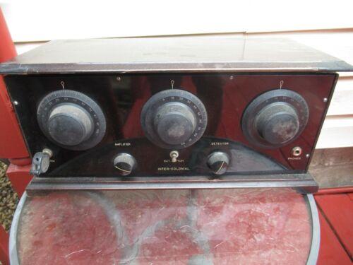 ANTIQUE INTER-COLONIAL RADIO RECIEVER BOX