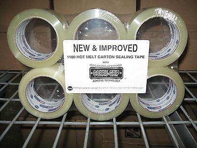 6 Rolls Intertape 1100 Heavy Duty 3 MIL Clear Packing Carton Sealing Tape