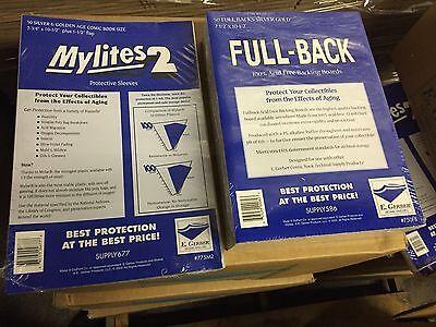 50 E. Gerber Silver/Gold Comic Book Mylites 2 Bags (775M2) & Full Backs (750FB)