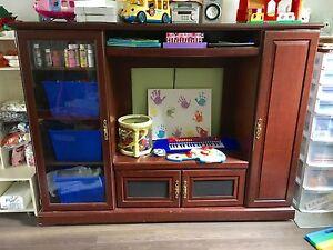 Entertainment storage unit, puppet theatre