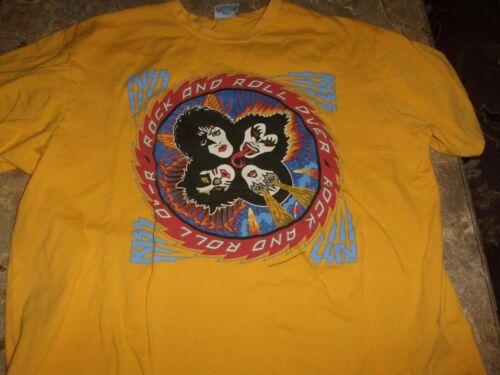 KISS 1994 Vintage Yellow Tee-Shirt Size XL Classic Authentic Memorabilia