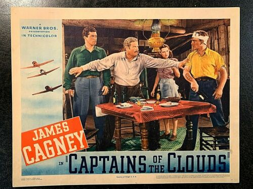 CAPTAINS OF THE CLOUDS 1942 ORIGINAL LOBBY CARD, JAMES CAGNEY