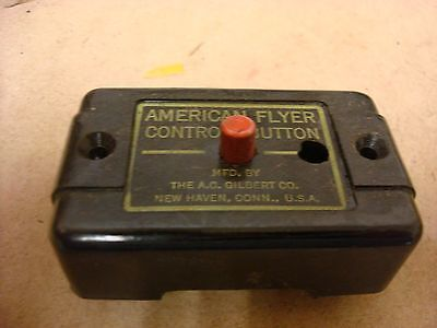 VINTAGE American Flyer S Gauge Black Control Button