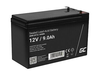 Batería Gel de plomo AGM 12V 9Ah UPS/SAI Recargable para Eléctrico Coche