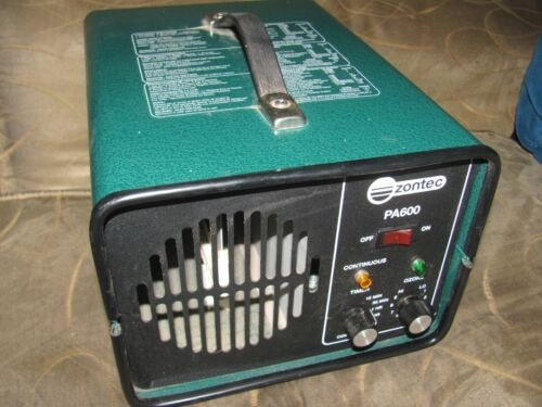 Zontec Paragon Group Electronic Ozone Deodorizer Cleaner Model PA600 WORKS GREAT