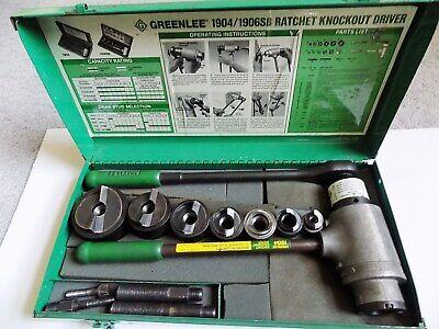 Greenlee 1906sb High Leverage Ratchet Punch Driver Kit 12-2 Conduit