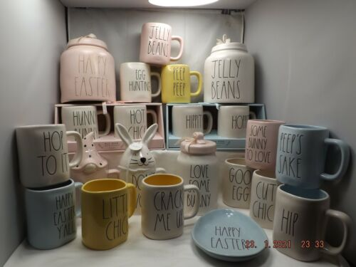 New Rae Dunn Artisan Easter Collection Coffee/Tea Mug, Jelly Beans Canisters