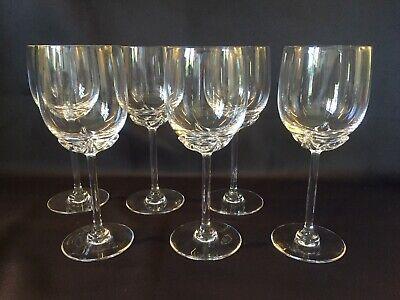 6 verres à eau en cristal Mod. PETULIA.  H: 202 mm  Val Saint Lambert