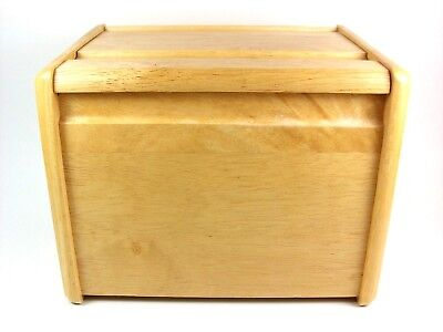 Wooden Storage Box w/ Hinged Top Lid Great Condition! C6 - Hinged Wooden Box