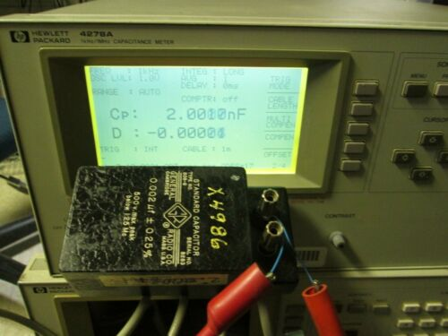 HP 4278A 1 MHz Capacitance Meter TESTED! Programmable Scanner IF OPT 002 101 201