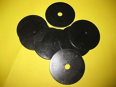 8 X BLACK METAL REPAIR WASHERS 45MM X 7MM X 2MM ALL CARS