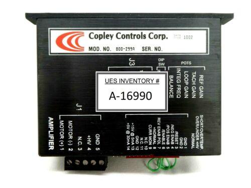 Copley Controls 800-299A Servo Motor Drive Amplifier Working Surplus