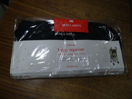 Maclaren Universal Stroller Organizer Twin Pocket Holder Black Buggy Bag