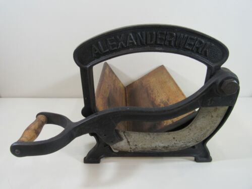 Vintage Iron and Wood Alexanderwerk Germany Bread Slicer Cutter
