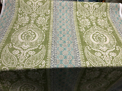 """P Kaufmann Match of Provence Paisley Avocado Fabric by the Yard 56"""""""