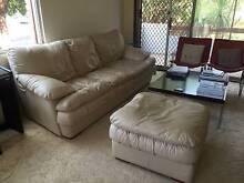 Super confortable leather sofa Russell Lea Canada Bay Area Preview