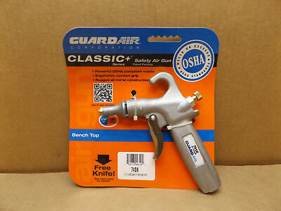 "GUARDAIR Classic+ Series Jet Guard Safety Air Gun 1/4""NPT Adjustable Volume  NOS"