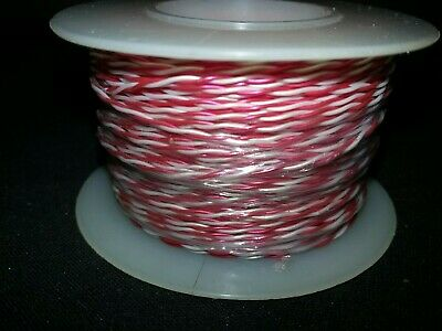 Twisted Pair 30 Awg Solid Kynar Wire Ul1422 Redwhite  100 Ft. Spool