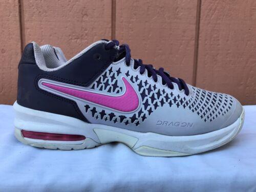 EUC Nike Air Max Cage Womens US 7 EUR 38 Tennis Shoes Black Pink Gray 554874-565