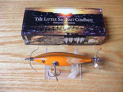 Little Sac Bait Co Niangua Minnow Glasseye Lure in Jack O Lanter Color NIB