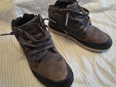 Jungen Herbst-/ Winter Schuhe Sneaker Gr.35 Leder Robust Geox Amphibiox Respira