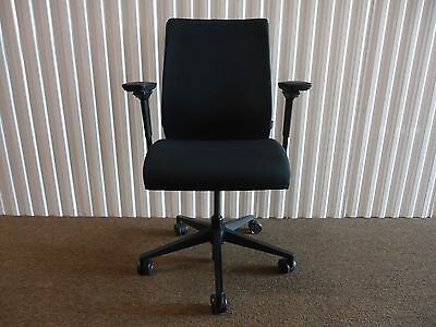 Think Chair In Black Fabric By Steelcase Fully Adjustable Ergonomic Chair