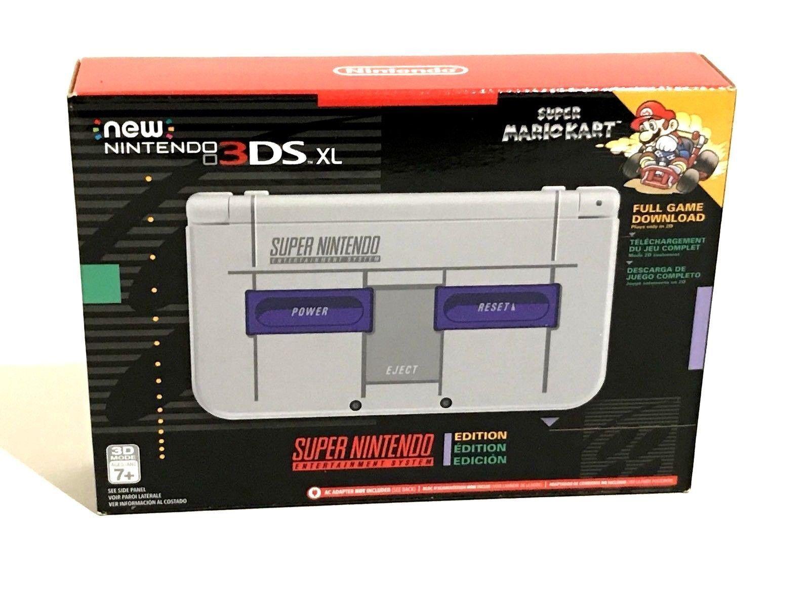 Nintendo NEW 3DS XL Super Nintendo NES Limited Edition (Newest Model)