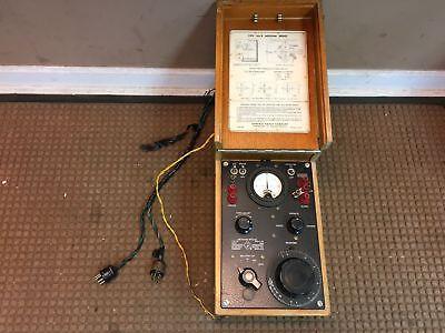 Vintage General Radio Megohm Bridge Type 544-b With Oak Case Cambridge Ma