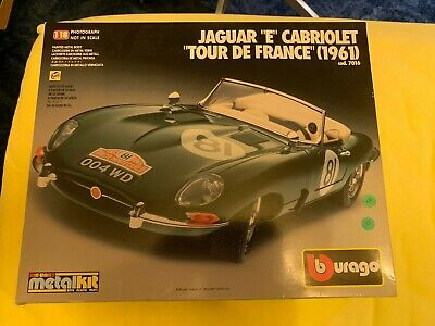 Burago 1:18 Jaguar E Cabriolet Tour De France 1961 Kit  Green (7016) - Very Rare
