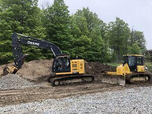 Excavating, demolition, grading ponds etc