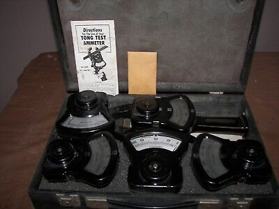 Vintage Columbia Electric 6-piece Tong Test Ammeter Set