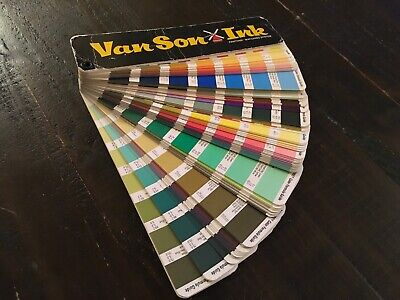 Van Son Holland Ink Pantone Matching System Color Guiderainbow Of Colors