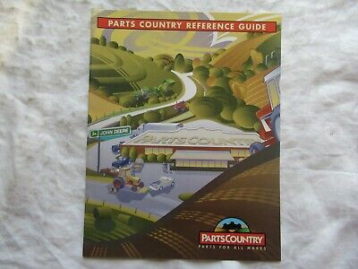 2001 John Deere Parts Country Reference Guide Brochure