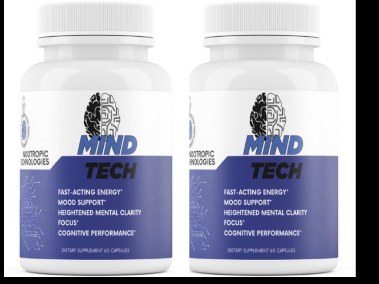 2 Bottles - Mind Tech Nootropic Mindtech Brain Booster Focus Supplement