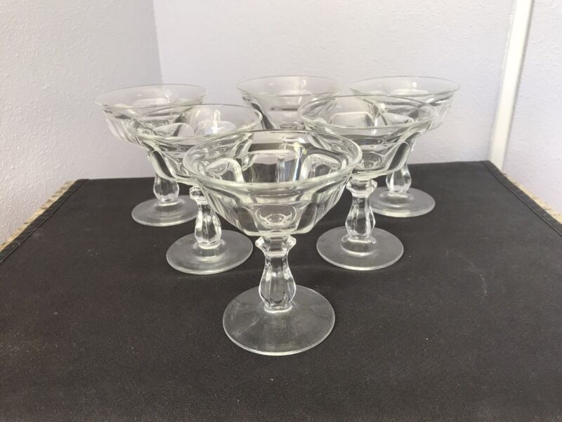 6 COLONIAL PATTERN - CHAMPAGNE TALL SHERBET - HEISEY