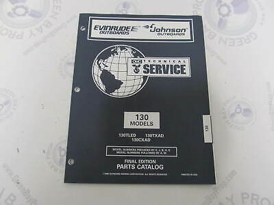 438222 OMC Evinrude Johnson 130 HP Outboard Parts Catalog -