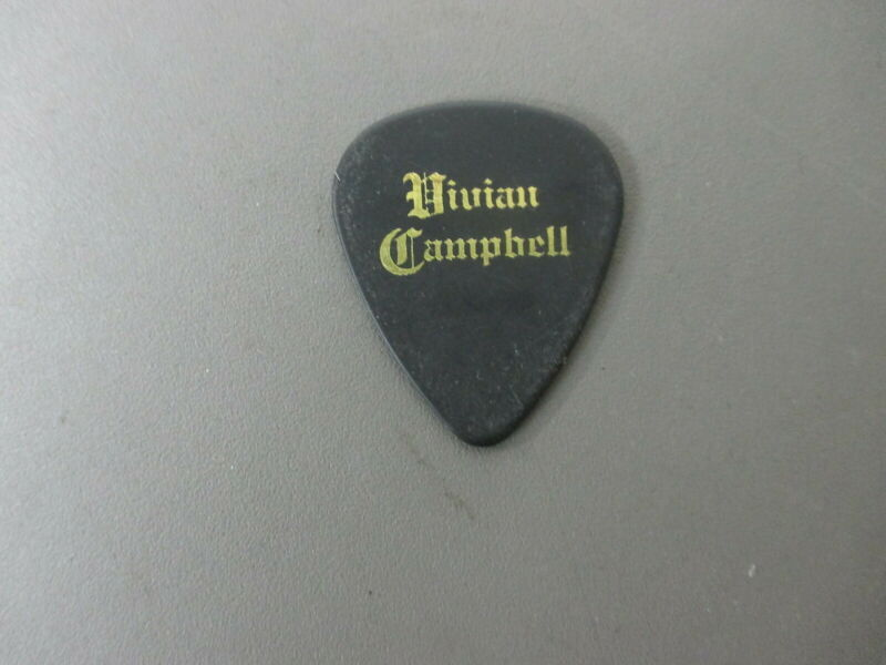 Last In Line guitar pick gold on black Vivian Campbell - DIO   !