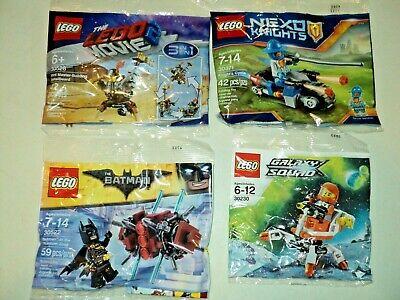 LEGO Polybag Lot of 4 Batman Nexo Knights Galaxy Squad Movie 30522 30230 30371 +