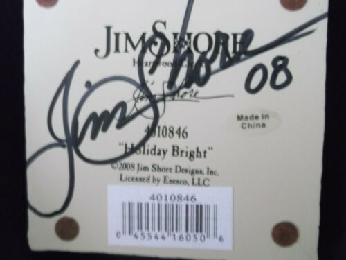 """Jim Shore 2008 Heartwood Creek #4010846 """"Holiday Bright"""" Signed by Artist"""