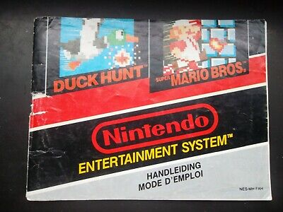 Notice Nintendo / Nes Duck Hunt / Super Mario  PAL fah original Booklet *