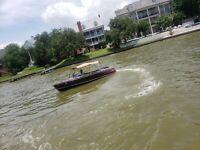 2004 Alsberg Classic Mahagony Look Fiberglass Speedboat Runabout Like Century