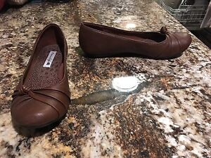 Brown flats - size 8