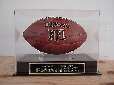 Display Case For Your Andrew Luck Indianapolis Colts Signed Football