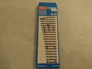 HO/OO Peco code 100 SL-92 small radius LH switch, NIB