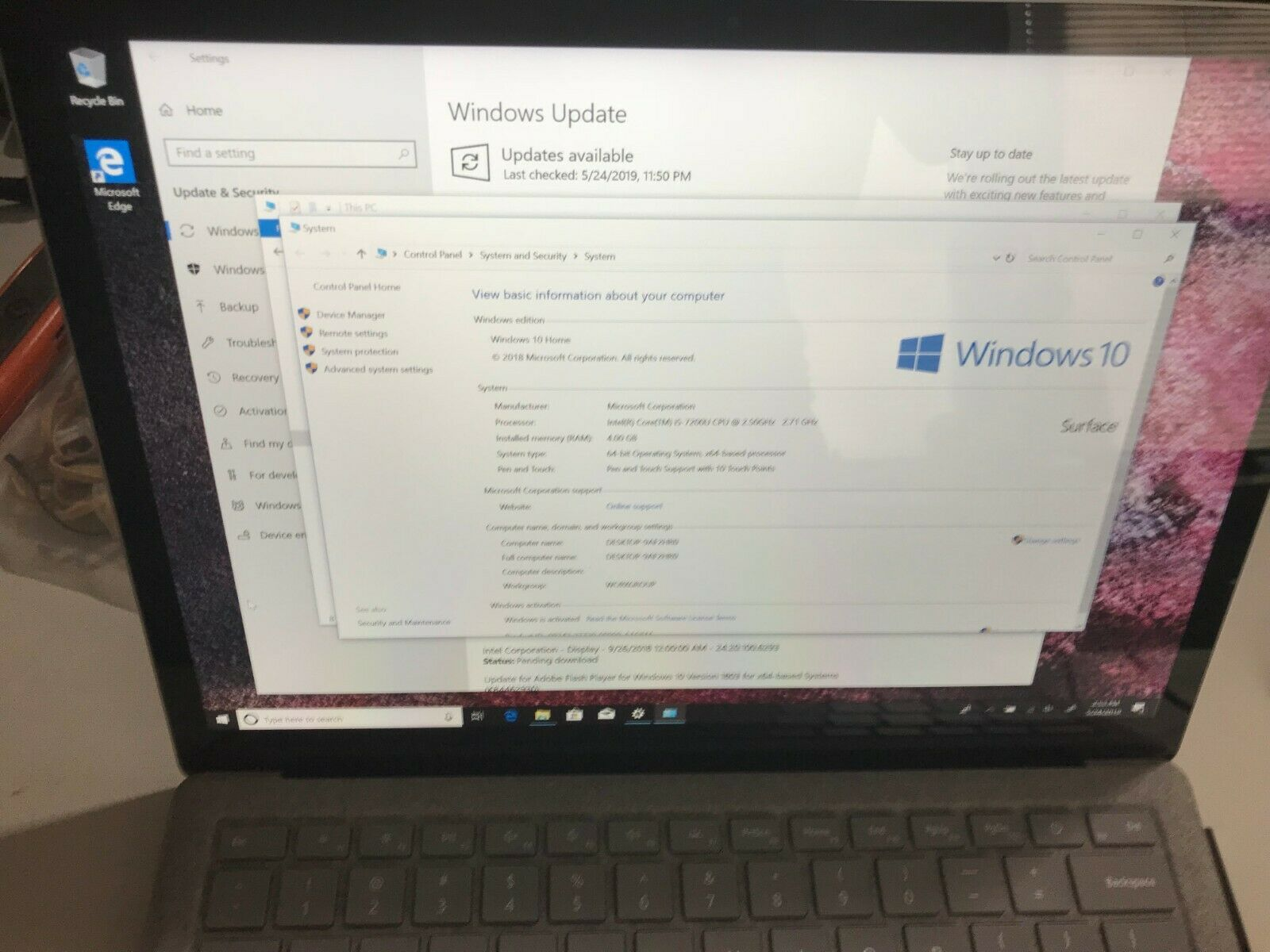 "microsoft laptop - Microsoft Surface 13.5"" Laptop i5 2.50GHz 4GB 128GB Windows 10 (D9P-00001)"