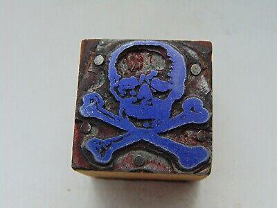 Printing Letterpress Printers Block Skull And Cross Bones