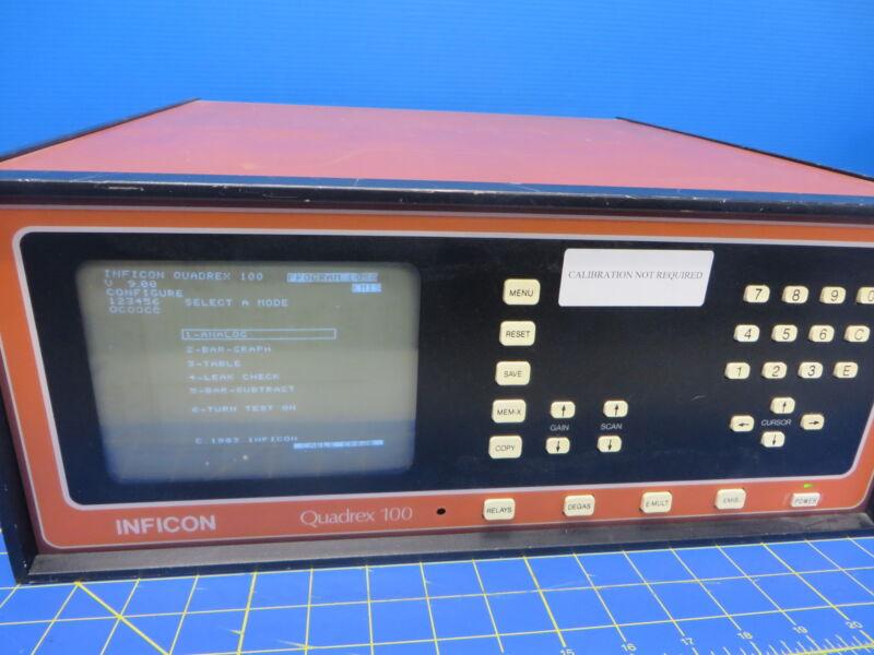 Inficon Quadrex-100 Gas Analyzer Controller 17-010-G1