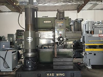 Kao Ming Model Kmr-1600dh Radial Arm Drill 5 X 15 30 - 1580 Rpm